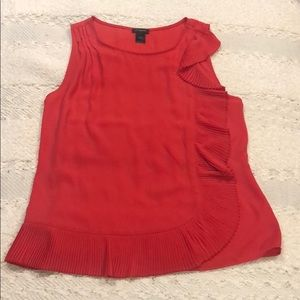 Ann Taylor coral red sleeveless top, size S